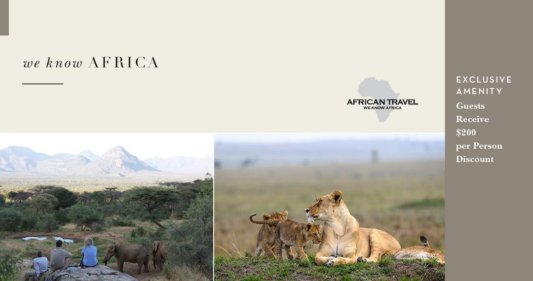 Africa Travel Exclusive Amenity