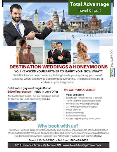 Pride In Love flyer LGBTQ Travel - Total Advantage Travel