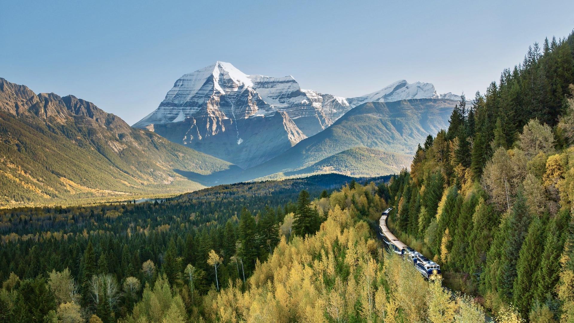 Rocky Mountaineer Train Journey - Mount Robson