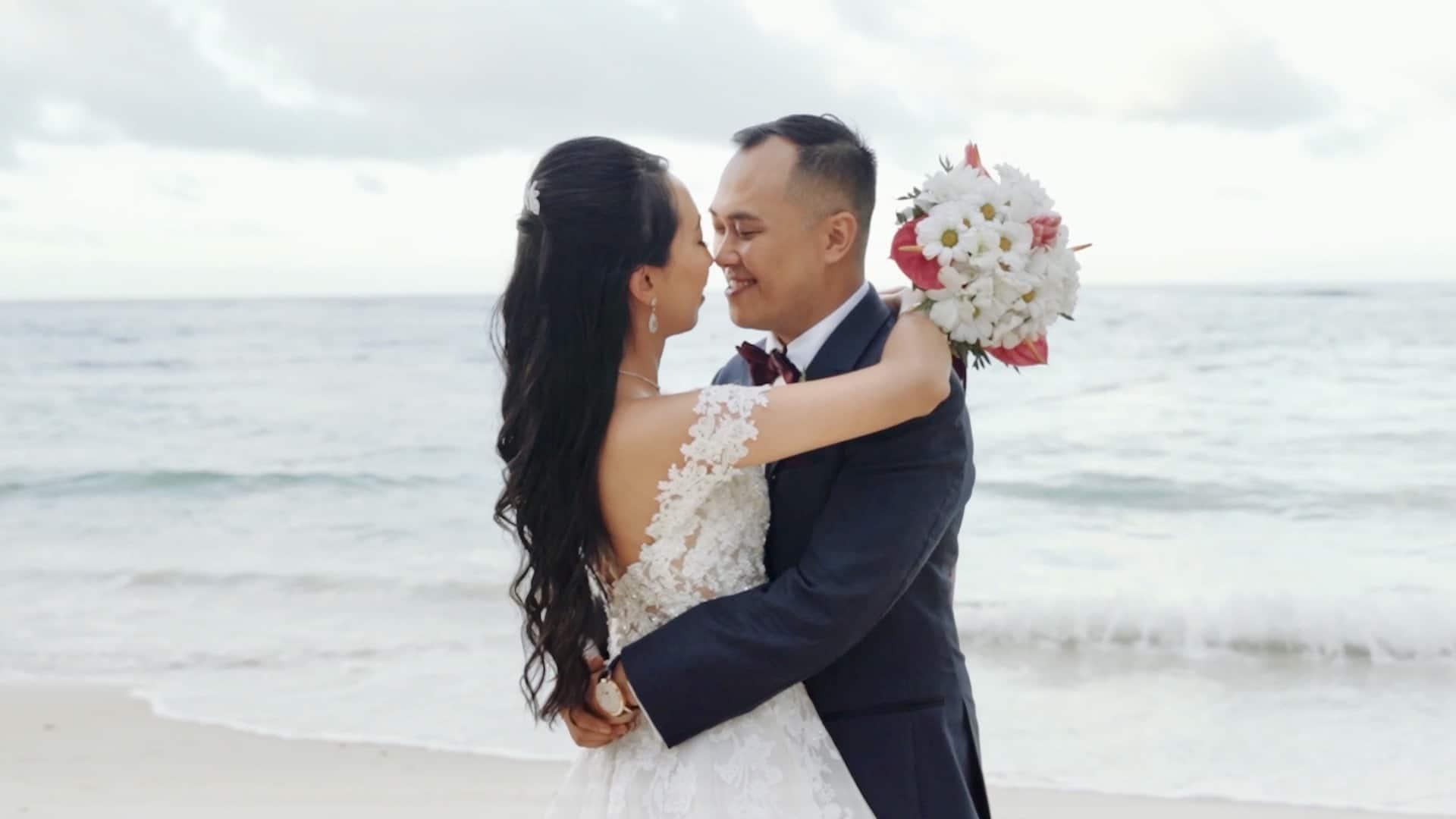Everlasting Love - Beach Wedding Bride and Groom